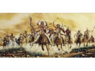 Schilderij Indiaan met Wolven, Adelaars en te Paard