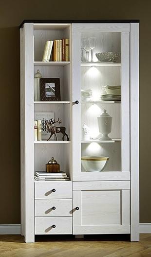 VOORRAAD Moderne witte vitrinekast met LED verlichting NU 379 ...