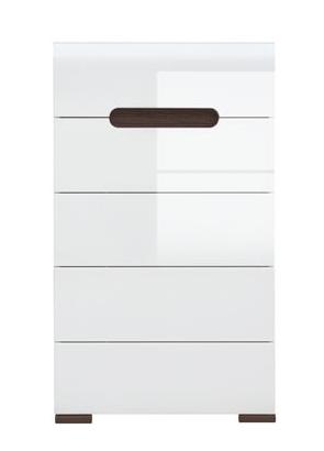 ACTIE Moderne smalle ladekast hoogglans wit NU 229,- NIEUW : Kasten en ...