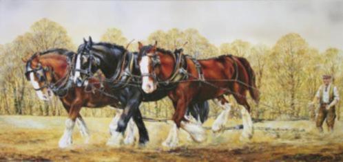 Hedendaags Schilderij Paarden Paard : Accessoires en Decoratie CM-44