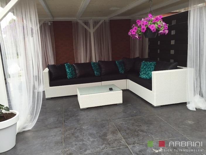 Aanbieding Loungebank Tuin : Witte loungebank tuin latest loungeset lounche set terras tuin