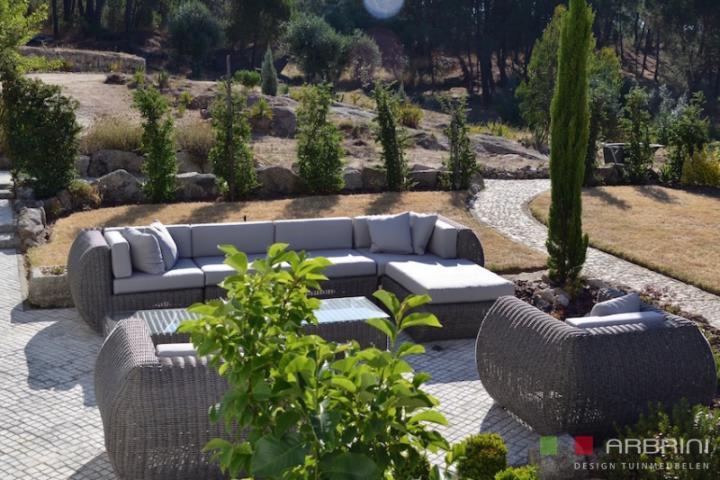 Aanbieding Loungebank Tuin : Loungeset lounche set terras tuin grijs wicker aanbieding