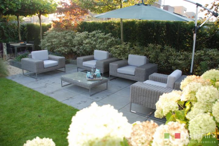 Tuin Lounge Stoel : Loungestoel lounche fauteuil zetel set terras tuin grijs nieuw