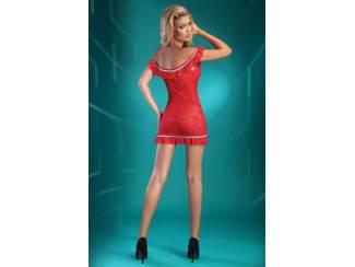 Ondergoed en Lingerie Nachtjurkje Mija met String Rood