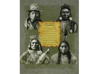 Posters Indianen oa Indiaan Sitting Bull 10 Geboden