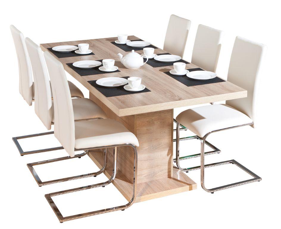 Actie moderne uitschuifbare eiken eettafel nu 279 nieuw tafels - Moderne eettafel ...