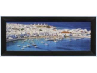 Glossy Schilderij Mykonos Griekenland