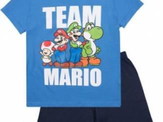 Super Mario Shortpyjama Blauw (134/9 jaar)AANBIEDING!