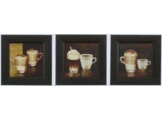 Schilderij Drieluik Gebaseerd op Koffie