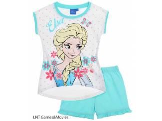 Disney Frozen shortpyjama Wit/Turkooise (140/10 j)AANBIEDING