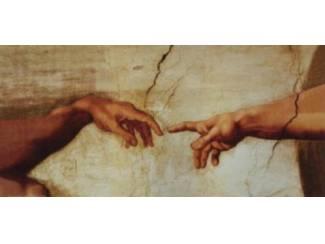 Schilderij Michelangelo The Creation 2 Handen (X2)