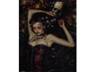 Poster Skull Girl Gothic van Victoria Frances