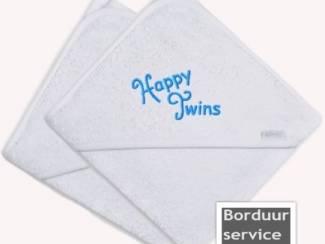 Set badcapes speciaal voor tweelingen