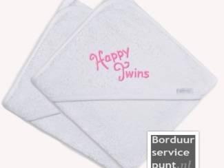 Babybenodigheden Set badcapes speciaal voor tweelingen