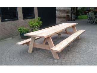 Douglashout boomstam picknicktafel, 180x80,gratis bezorgd