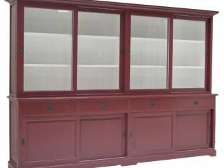 Buffetkast rood - wit 300 x 50/40 x 220cm