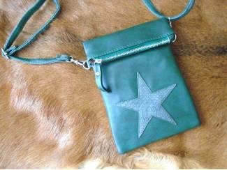 Flip top ster schoudertasje - groen