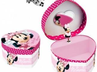 Minnie Mouse Muziekdoosje/Juwelendoosje hartvormig