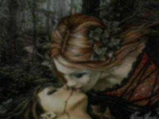Gothic Poster Kiss van Victoria Frances