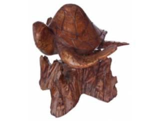 houten schildpad Handgemaakte