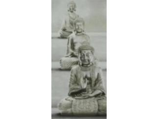 Boeddha Schilderij 3 Eenheid Boedha Buddha Glossy of Linnen