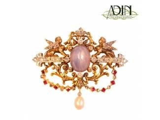Adin, Verkoop van antieke diamanten broches.