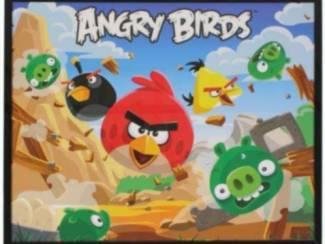 Tweeluik Posters met Glasplaat Angry Birds