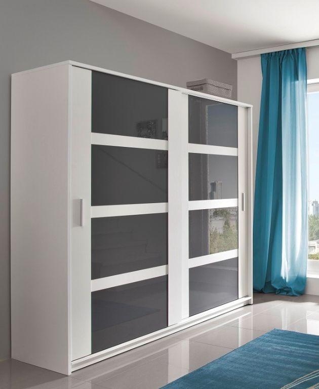 Voorraad moderne witte kledingkast met hoogglans deuren nieuw kasten en dressoirs - Kledingkast en dressoir ...