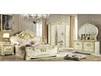 100% Italiaanse Klassiek Barok Slaapkamer Leonardo Beige