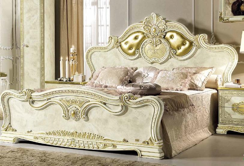 Barok Slaapkamer Meubels : Italiaanse klassiek barok slaapkamer leonardo beige slaapkamer