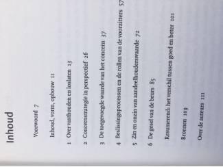 School, Studie en Wetenschap Vasthouden of loslaten (concernbestuur) - Van Londen, Cools