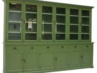 Buffetkast rietgroen - groen 310 x 50/40 x 220cm