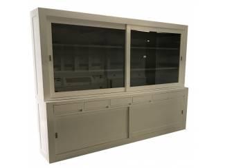 Buffetkast greeploos wit - grijs 280 x 215cm