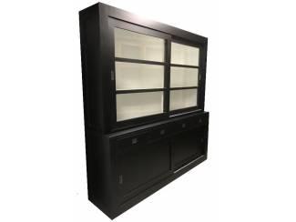 Winkelkast design Hasselt zwart - wit 200 x 220cm