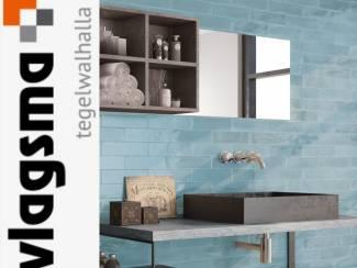 Blauwe Landelijke Wandtegels 7,5x30 cm Badkamer en Toilet