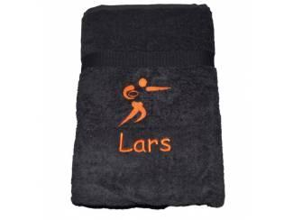 Accessoires en Toebehoren Sporthanddoek met sporticoon en geborduurde naam