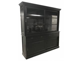 Buffetkast Rhenen 200 x 220cm zwart - zwart