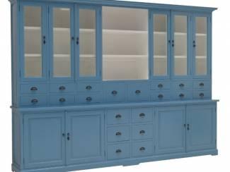 Buffetkast XL 20 laden blauw - wit 300 x 220cm
