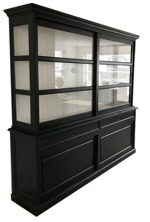 Buffetkast Montfoort 2 zwart - wit 240 x 220cm