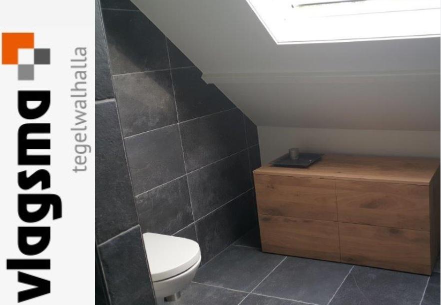 Warme Rustieke Badkamer : Grijze landelijke plavuizen badkamer tegels rustiek grijs : tegels