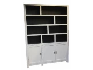 Vakkenkast design wit - grijs 180 x 240cm