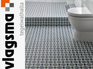 Blauwe Badkamer Toilettegels Vives Tegels 20x20 cm Goedkoop