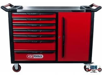RACINGline+ XL ZWART/ROOD gereedschapswagen 7 laden en deur. leeg