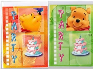 PARTY UITNODIGINGSKAARTEN KINDEREN 20 stuks Winnie the Pooh