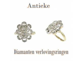 Antieke verlovingsringen met prachtige diamanten