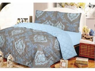 Bedsprei Pintra Bronze 260×250 Brons/Blauw
