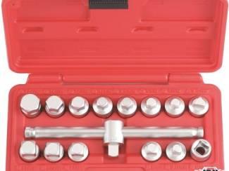 Oliecarter plug dopsleutelset 15 delig 915G2