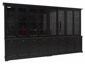 Bufferkast XXXL zwart - zwart 400 x 50/40 x 240cm