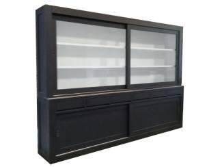 Design buffetkast zwart greeploos 300 x 220cm