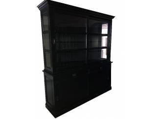 Buffetkast zwart - zwart 220 x 50/40 x 220cm
